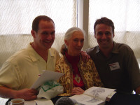 Paul and Dave with Jane Goodall